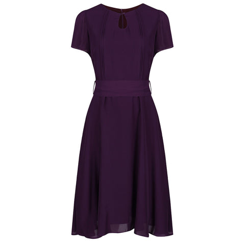 Lindy Bop Bretta Fig Purple 40s Dress