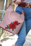 Seas The Day Striped Rose Handbag (2 Colours!)