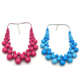 Gumball Bib Beaded Necklace (Various colours!)
