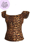 Louella DeVille Into The Jungle Lola Peasant Top Leopard