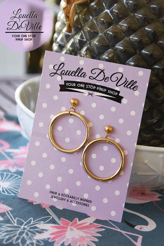Louella DeVille Iconic 35mm Marilyn Hoops (Gold & Silver)