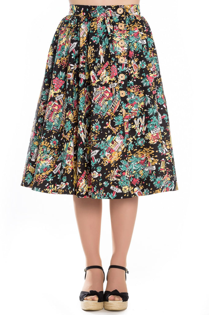 Hell Bunny Monte Carlo 50s Skirt