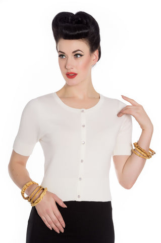 Peggy Sue Cropped PinUp Cardigan Sage