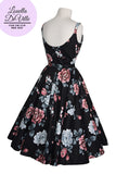 Louella DeVille Black & Pink Garden Loretta Swing Dress