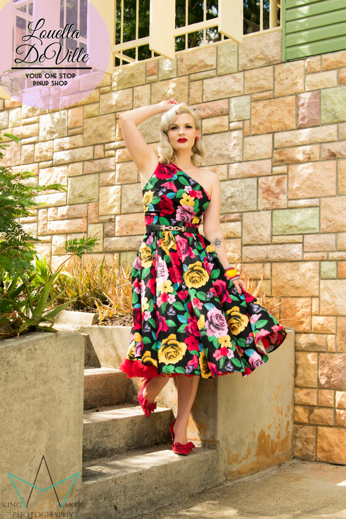Louella DeVille Coquette Rose Wanda Dress