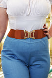 Elastic Stretch Gold Bow Deco Belt (Various Colours!)