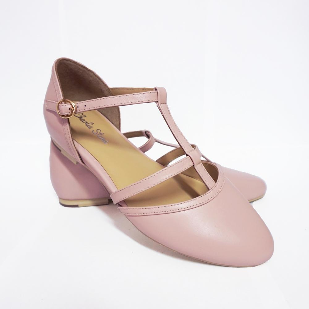 Charlie Stone Leather Bellagio Pink Flats