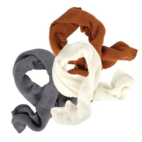 Autumn Winter Ribbed Knit Scarf (Various Colours!)