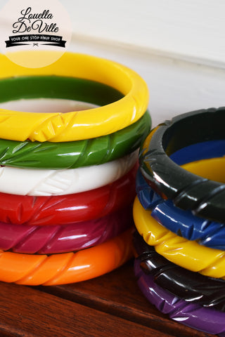 Missy Thin Fakelite Stacker Bangle (Various Colours)