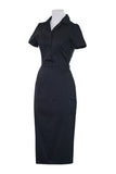 Louella DeVille Black Rizzo Wiggle Dress