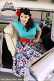 Louella DeVille Hibiscus Heaven Bettie Skirt