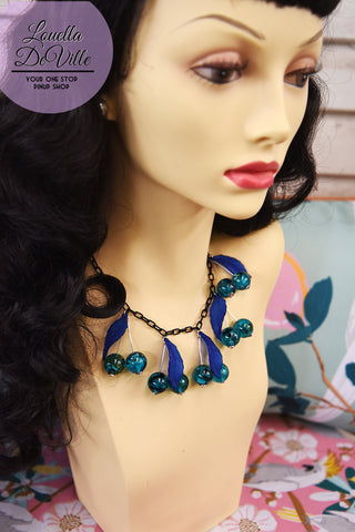 Louella DeVille Handmade Turning Tides Teal Necklace