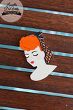 Louella DeVille Handmade Lady Lucille Snood Brooch (Various Colours!)