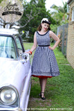 Louella DeVille Black Gingham Liz 1950s Dress