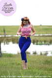 Sunshine Ginger 60s Capri Pants Blue