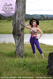 Sunshine Ginger 60s Capri Pants Purple