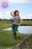 Sunshine Ginger 60s Capri Pants Green