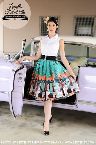 Ch Ch Ch Cherrybomb V Neck Swing Dress
