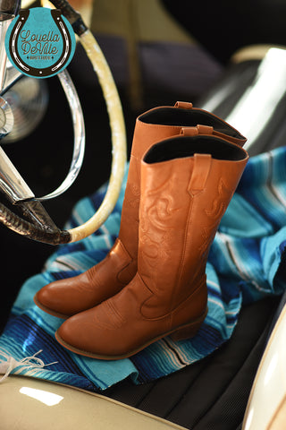 Recycled Rodeo Light Tan High Shaft Western Boots (New!)