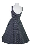 Louella DeVille Black Feeling Dotty Loretta Swing Dress