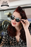 Black & Chrome 1930s Deco Sunglasses