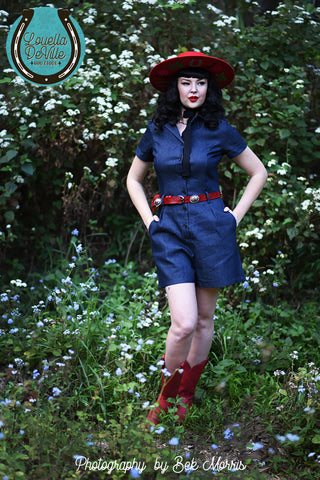 "Recycled Rodeo Denim Skirt - Waist 28"" - RD003"