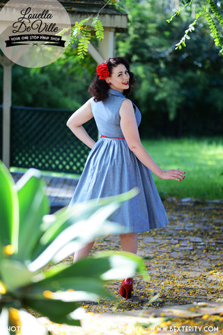 Louella DeVille Chambray Draper Dress