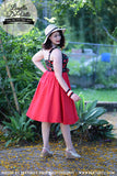Louella DeVille Red Bettie Skirt