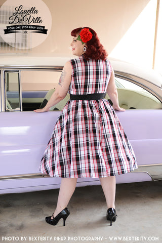Louella DeVille Red Plaid Rizzo Dress