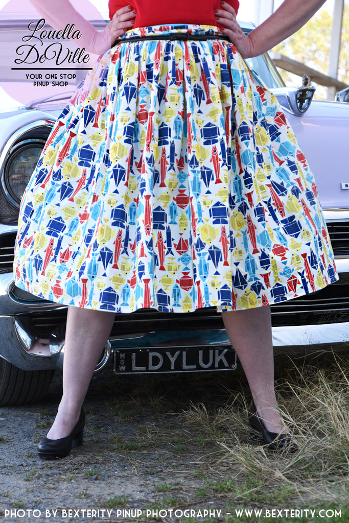 Louella DeVille Origami Catch Of The Day Bettie Skirt