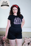 Louella DeVille Ladies Tee Eat Sleep PinUp Repeat