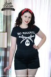 Louella DeVille Ladies No Regerts Tattoo Tee