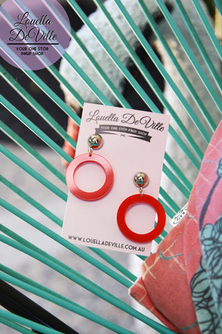 Louella DeVille Handmade Mini Vixen Hoops (Various Colours!)