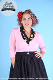 Peggy Sue Cropped PinUp Cardigan Light Pink
