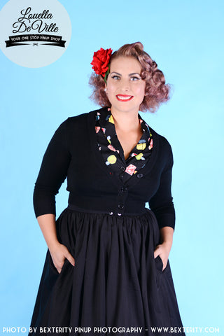 Louella DeVille Black Gingham Bettie Skirt