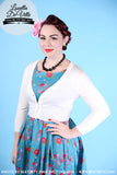 Peggy Sue Cropped PinUp Cardigan Ivory White