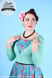 Peggy Sue Cropped PinUp Cardigan Mint Opal