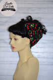 Cotton Bandana Head Scarf Black Cherry