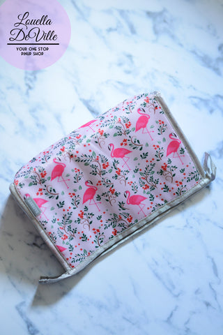 Fancy Flamingos Waterproof Makeup Bag