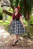 Louella DeVille Black Plaid Tartan Bettie Skirt