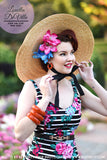 In A Pinch Louella DeVille Wide Brim Straw Boater Hat (2 Colours!)