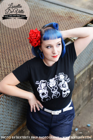 Louella DeVille Tee 3 Wise PinUps
