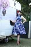 Louella DeVille Priscilla Swing Dress Blue Plaid