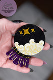 Louella DeVille All Hallows Eve Crystal Ball Brooch
