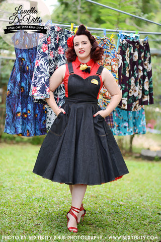 Louella DeVille  Burgundy Boston Terrier Bettie Skirt