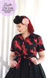Louella DeVille In A Pinch Black Lobster Ava Tie Blouse