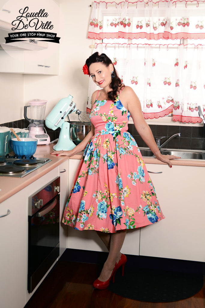 Louella DeVille Carmine Floral Frenchie Dress