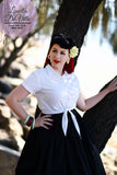 Louella DeVille In A Pinch White Cotton Ava Tie Blouse