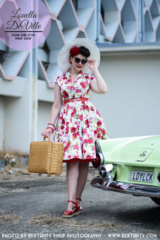 Louella DeVille Garden Floral Day Dress