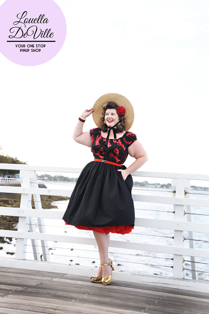 Louella DeVille In A Pinch Black Cotton Bettie Skirt
